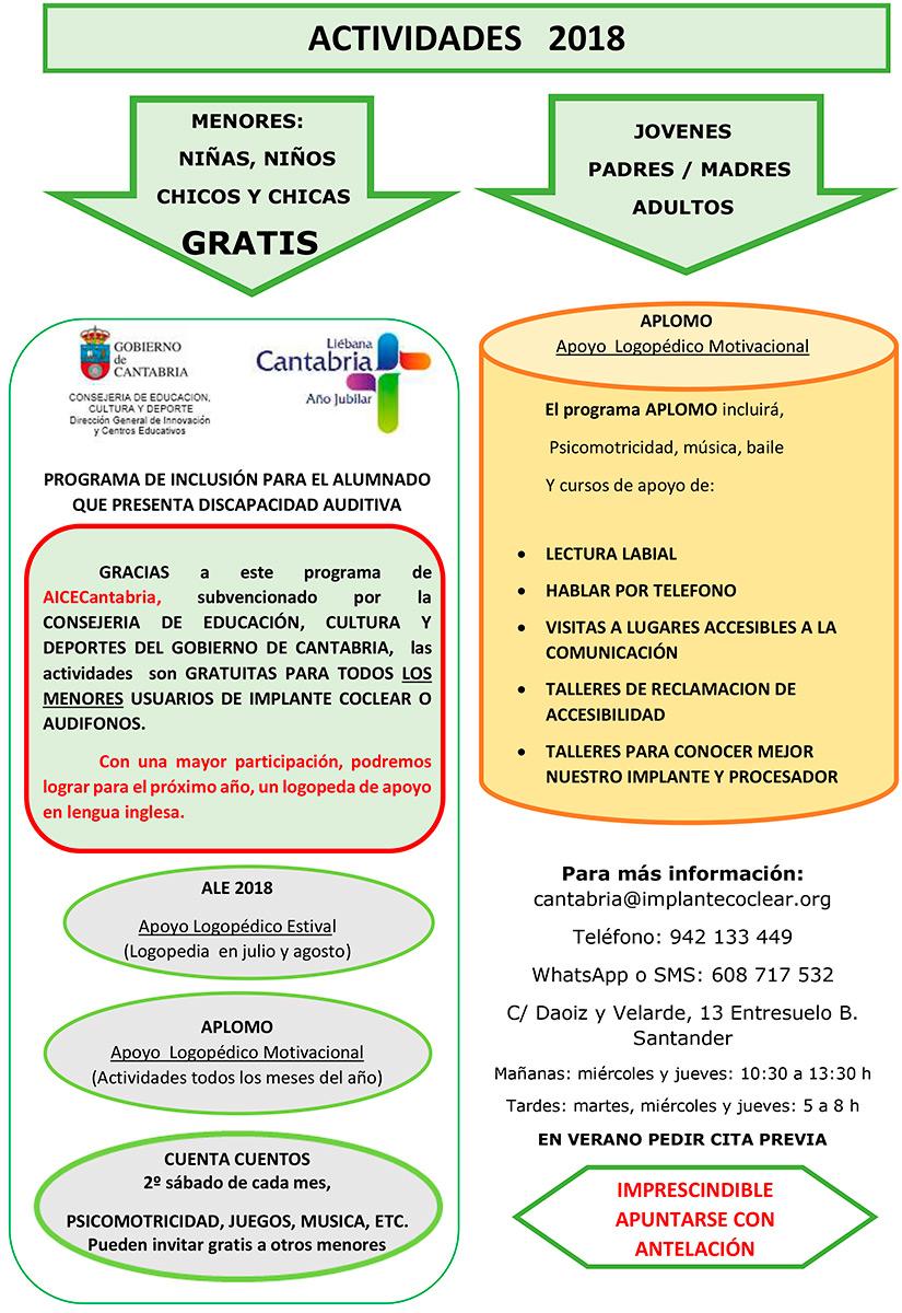 Actividades Aice Cantabria 2018