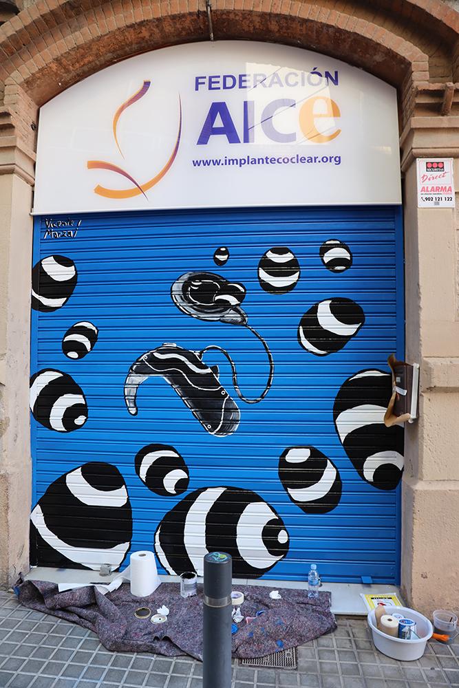 Persiana sede Federación AICE. Vicente Marzal