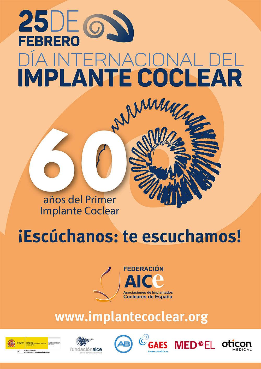 Cartel Día Internacional del Implante Coclear 2017