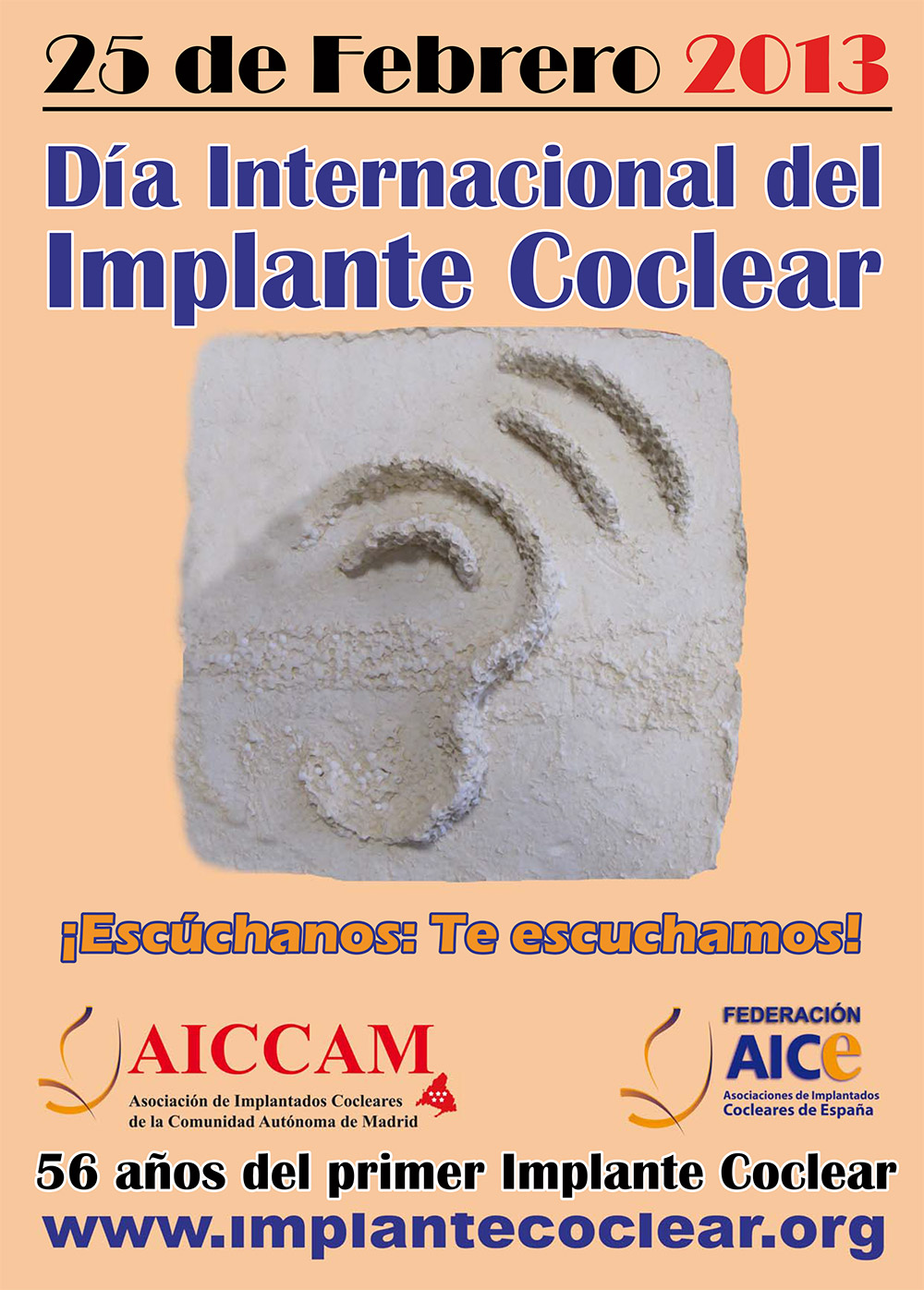 Cartel Día Implante Coclear 2013