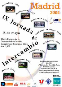 IX Jornada de Intercambio. Madrid 2004