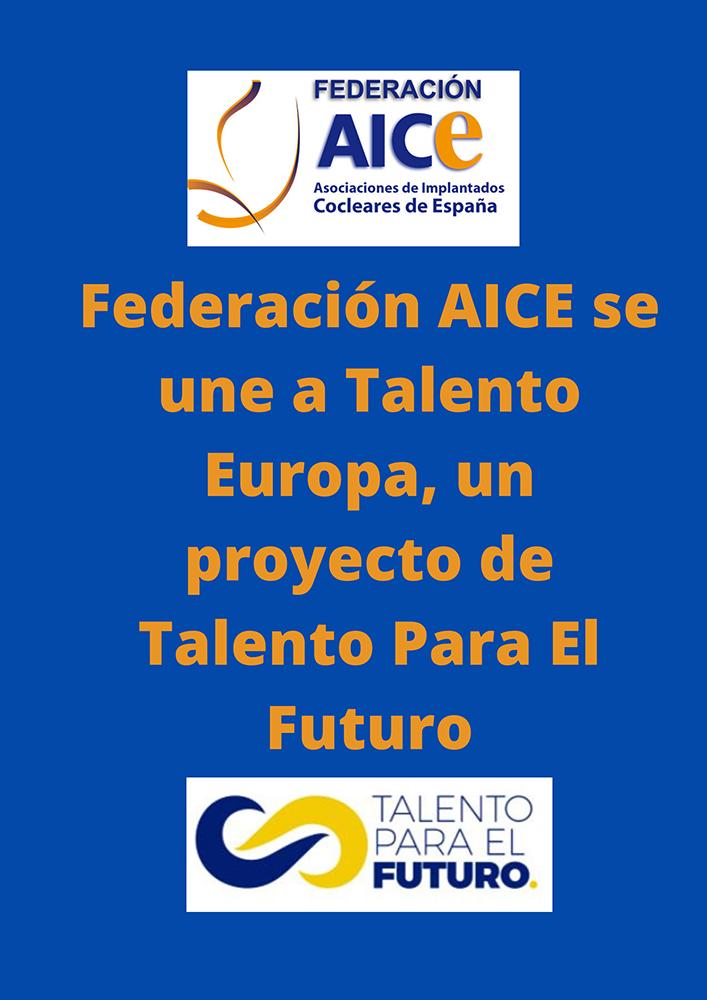 Federación AICE se une a la plataforma Talento Europa