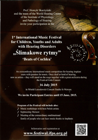 1st International Music Festival for Children, Youths and Adults with Hearing Disorders (Beats of Cochlea)