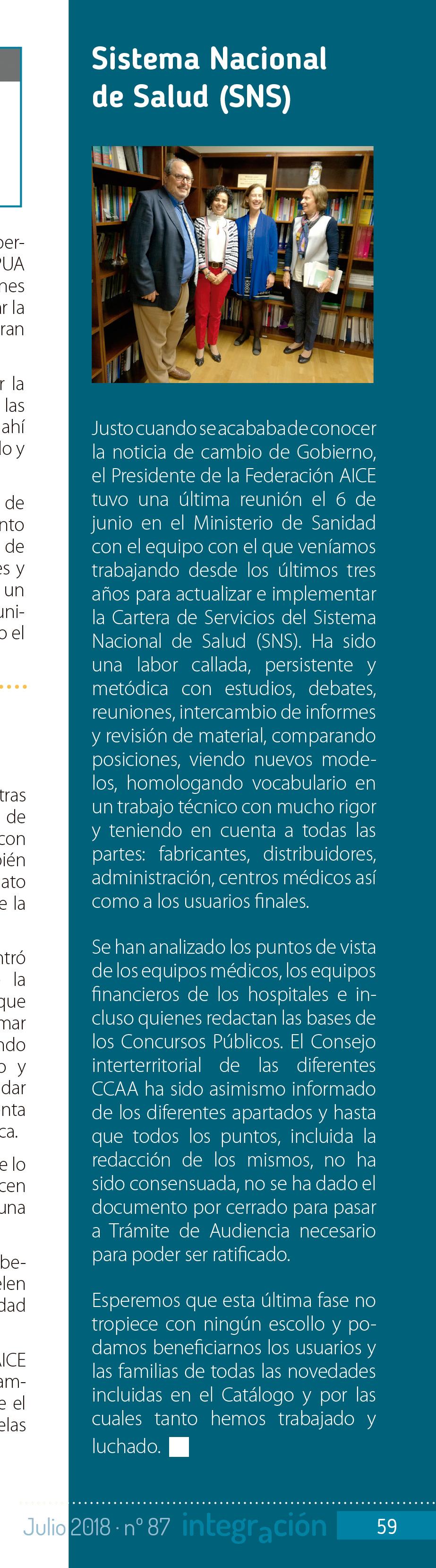 Imagen parcial de la página 59 de la revista Integración 87